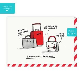 Emotional Baggage Greeting Card|Ohh Deer