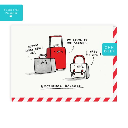 Emotional Baggage Greeting Card|Ohh Deer