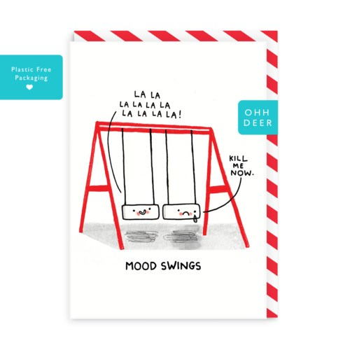 Mood Swings Greeting Card|Ohh Deer