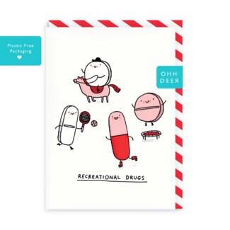 Recreational Drugs Greeting Card|Ohh Deer