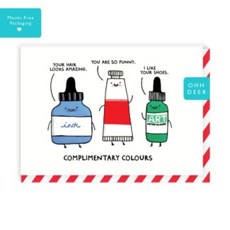 Complimentary Colours Greeting Card|Ohh Deer