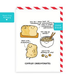 Complex Carbohydrates Greeting Card|Ohh Deer