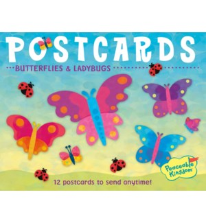 Butterflies & Ladybugs Postcar