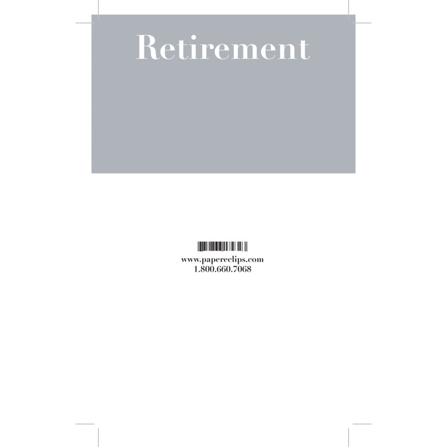 Header - Retirement|Paper E. Clips
