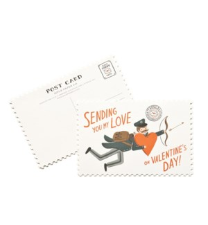 Pack of 10 Valentine's Day postcards