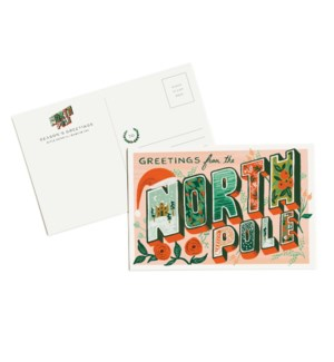 Greetings from the North Pole Postcards
