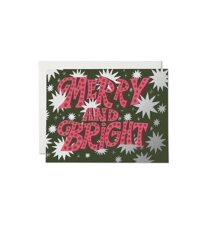 Sparkling Merry FOIL Holiday card
