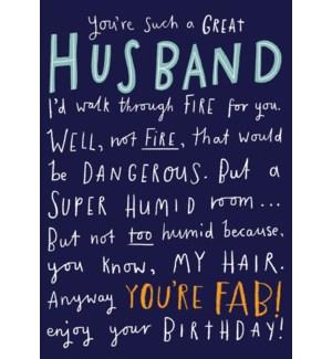 Husband Birthday 4.5x6|Pigment