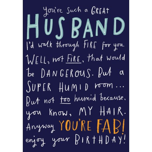 Husband Birthday 4.5x6 Pigment