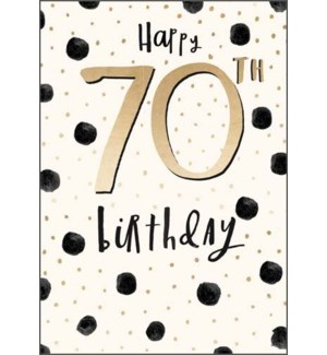 70th Birthday Gold Dots|Pigment Productions