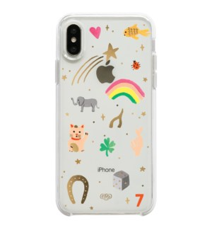 Clear Good Luck Charms iPhone XS Case