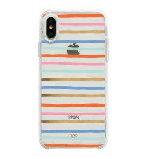 Clear Happy Stripes iPhone XS Case