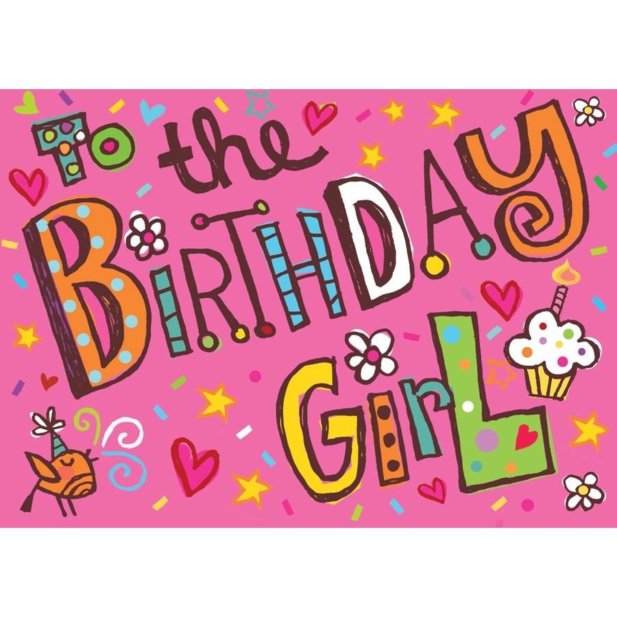 Birthday Girl Glitter Card|Peaceable Kingdom