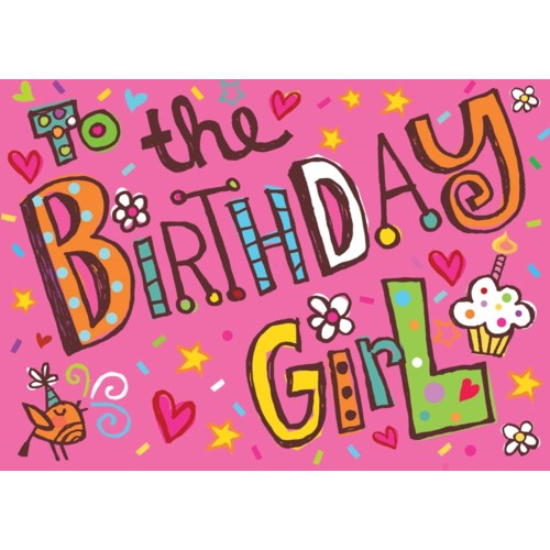 Birthday Girl Glitter Card|Peaceable Kingdom