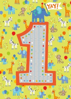 Age 1 Pattern Foil Card|Peaceable Kingdom