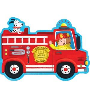 Birthday Fire Truck Die-Cut|Peaceable Kingdom