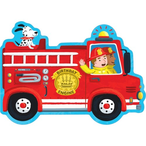 Birthday Fire Truck Die-Cut|Peaceable Kingdom