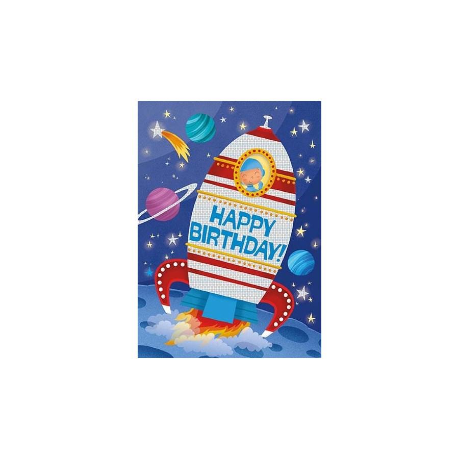 Space Die-Cut Foil Card Peaceable Kingdom