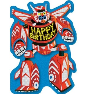 Transformer Robot Foil Card|Peaceable Kingdom