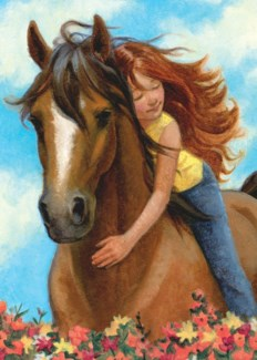 Girl With Horse|Peaceable Kingdom