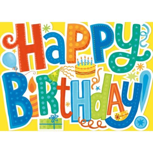 Happy Birthday Letters Die-Cut|Peaceable Kingdom