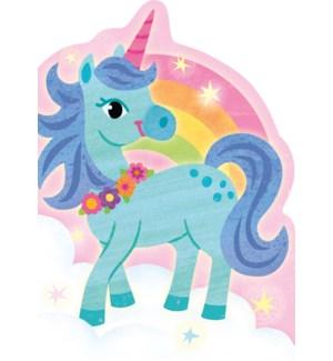 Unicorn & Rainbow Die-Cut Card|Peaceable Kingdom