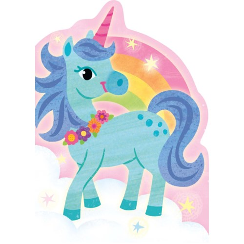 Unicorn & Rainbow Die-Cut Card Peaceable Kingdom