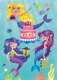 Mermaid Party Card|Peaceable Kingdom