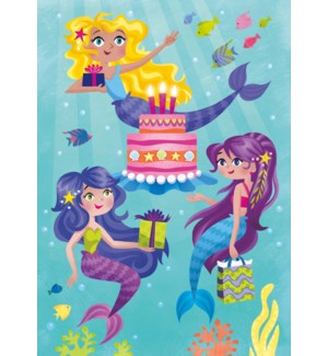 Mermaid Party Card|Peaceable Kingdom