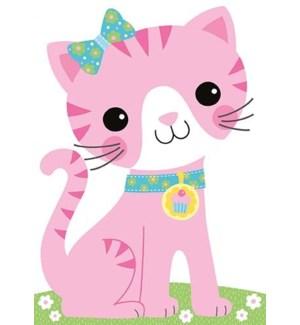 Pink Kitty Flocked Die-Cut|Peaceable Kingdom