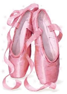 Ballet Shoes Glitter Die-Cut|Peaceable Kingdom