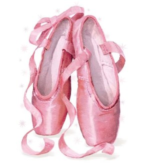 Ballet Shoes Glitter Die-Cut|Peaceable Kingdom