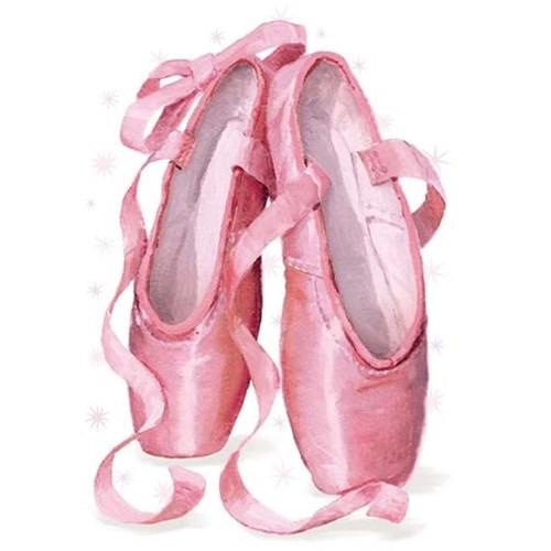 Ballet Shoes Glitter Die-Cut Peaceable Kingdom