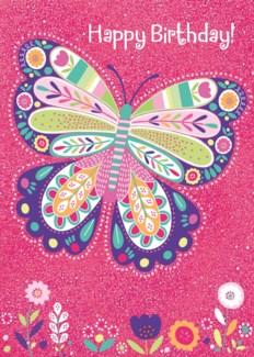 Sparkle Butterfly Foil Card|Peaceable Kingdom