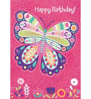 Sparkle Butterfly Foil Card|Peaceable Kingdom