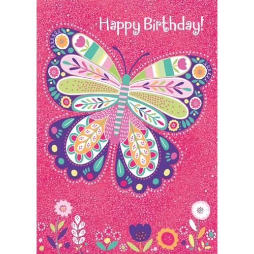 Sparkle Butterfly Foil Card Peaceable Kingdom