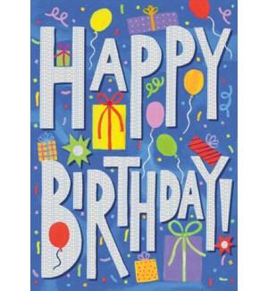 HAPPY BIRTHDAY FOIL CARD|Peaceable Kingdom