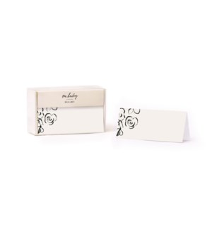 Rose Buds Place Cards (Set of 12)