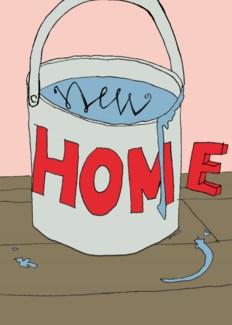 New Home Paint Pot 5x7 Poet & Painter