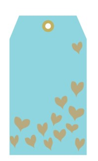 Blue Tag Gold Hearts (pk of 5)|Presto