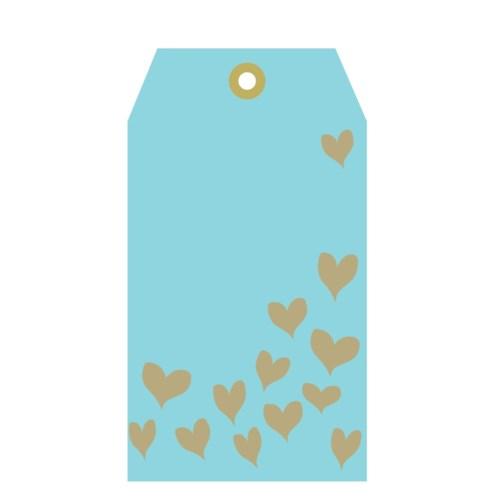 Blue Tag Gold Hearts (pk of 5)|Presto