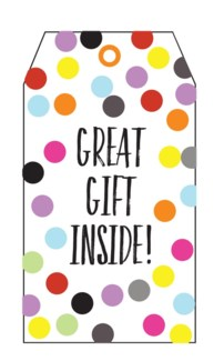 Great Gift Inside Colour Dots (pk of 5)|Presto