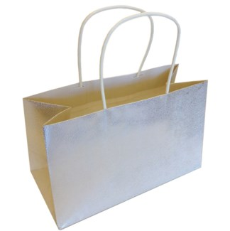 Silver Tiny Dot Texure Kraft Bag|Presto