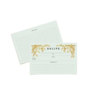 Pack of 12 Golden Garden Recipe Cards