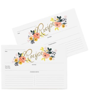 Pack of 12 Peony Recipe Cards