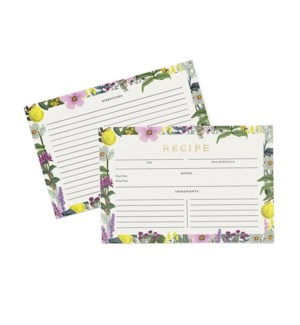 Pack of 12 Herb Garden Recipe Cards