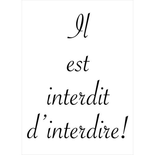 Interdit d'Interdire 5x7|Retrospect