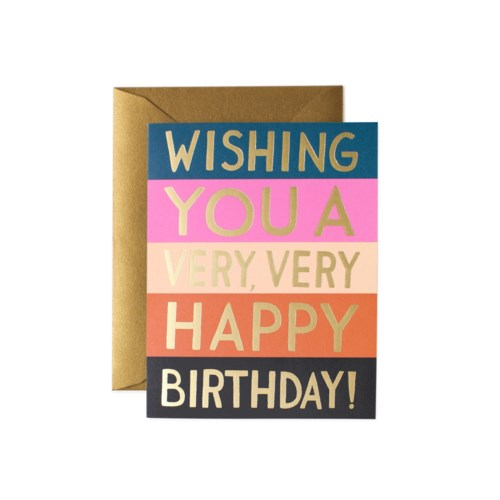Color Block Birthday Card|Z