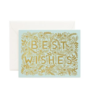 Golden Best Wishes Card|Z