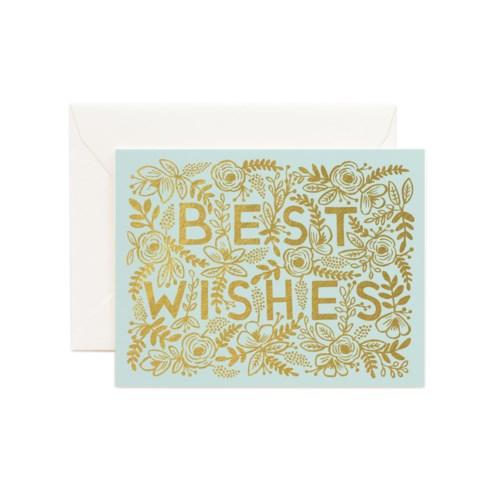 Golden Best Wishes Card|Z